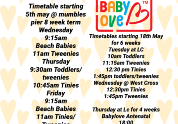 Babylove Groups new spring F2F timetable